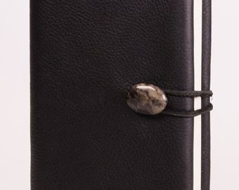 """Refillable 4"""" x 6"""" Handmade Leather Journal with Blank Cover(JS-43)"""