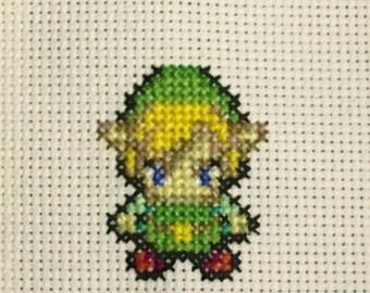 Legend of Zelda: Minish Cap Link Cross Stitch