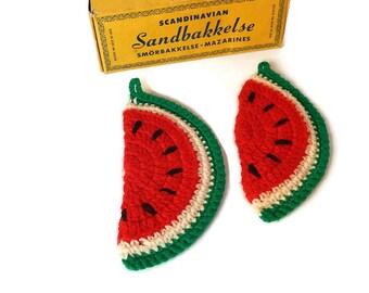 Crochet Pot Holders Vintage Watermelon Pot Holder Set Hot Pads