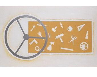 Original Linocut Inventory after Matisse