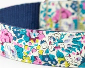 Teal Floral Dog Collar - Liberty of London