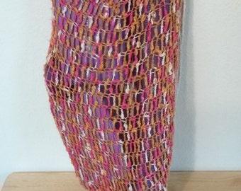 Crochet Yoga Mat and Accessories Bag - Pink, Gold, Cream