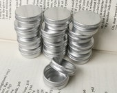 small metal tins, blank round silver color, 10ml screw lidded, one tin box, small storage for diy project