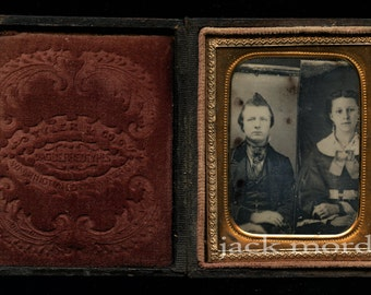 Trick Daguerreotype - Two Bare Plates Photographed Together - Unusual & Rare!