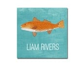Set of 24 Redfish Calling Cards, Gift Stickers, Gift Tags, Childrens Gift Tags, Childrens Calling Cards, Family Stickers, Red Drum