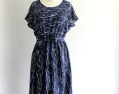 Navy Streak Easy Dress