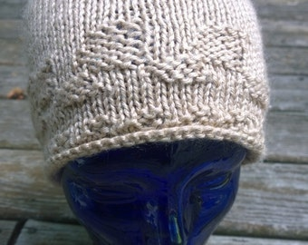 Natural Cream Bamboo Knit Hat > Beanie > Bamboo blend> Great Gift!