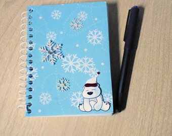 Polar Bear Notebook Christmas List Book Spiral Bound