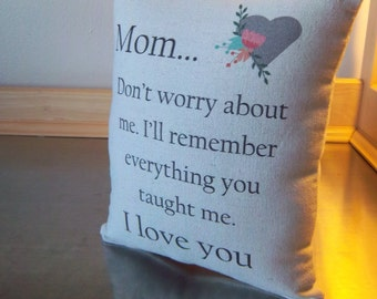 I love you mom gift throw pillow cotton pillow farewell gift ideas mother birthday mama keepsake mommy bedroom home decor canvas cushions