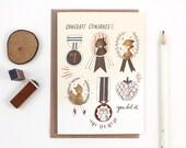 Graduation Card - Congrats Congrats - Copper Foil Greeting Card