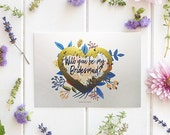 Cute Will You Be My Bridesmaid Cards, Scratch Off Bridesmaid Card, Bridesmaid Proposal Card, Will You Be My Maid of Honor - GBM-03
