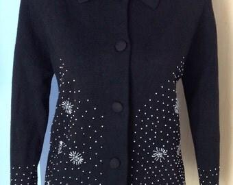 Romalma black beaded sweater