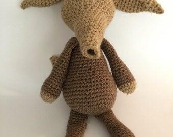 Crochet Amigurumi Aardvark Plush