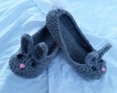 Adult Bunny Slipper- available in many sizes, gift women, slippers, shoes, gift, women, mothers day, bunny, spring, summer, gifts, cute gift