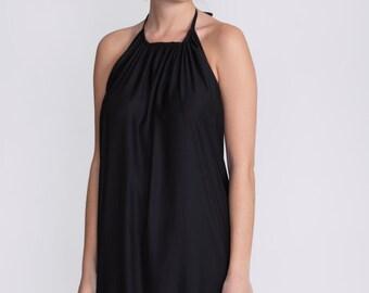 Black evening dress, boho chic dress, Maxi, formal dress, cocktail dress, prom dress, low back dress, sexy dress, halter dress, 50% off sale