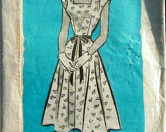 9311 Fabric Sewing Pattern Mail Order Dress Frock-INCOMPLETE Bust 38 96.52cm