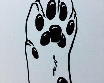 Feline paw vinyl sticker