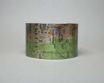 Oregon Skyline Trail Three Sisters Pacific Crest Cuff Bracelet Unique Hiking Gift for Men or Women