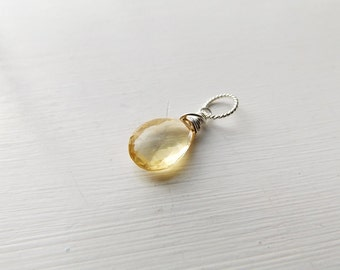 Citrine Charm Pendant  by Quintessential Arts