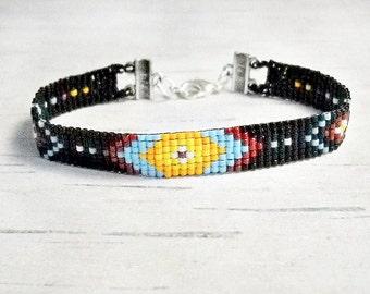Tribal Bracelet - Indian Bracelet - Boho Bracelet - Southwestern Bracelet - Hippie Bracelet - Beaded Bracelet - Women's Bracelet