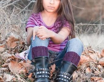 Girls Plum Boot Cuffs, Crochet boot toppers, leg warmers, boof cuff, crochet boot cuffs, accessories, boot toppers, fall fashion,