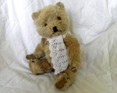"Vintage Mohair Bear 11.5"" - Chiltern Bear - Jointed Mohair Bear - 1960's Teddy Bear - Working Squeaker"