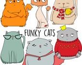 Premium cat clipart, Cat clipart, Kitties digital clipart, Kitty clipart, Vector kitty clipar, Vector cat clipart, Cute kitten clipart