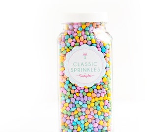 8oz (1 cup) Pastel Bit Chips, Gluten-Free, Pastel Sprinkles, Candy Covered Chocolate Chips