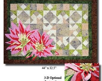 Montana Wildflower Bitterroot Fusible Applique Pattern