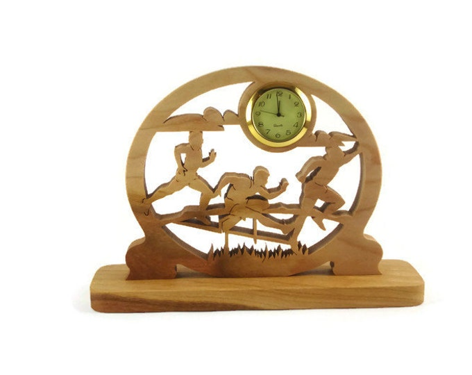 5K Runners Desk Or Shelf Clock Handmade From Cherry Wood By KevsKrafts Woodworking