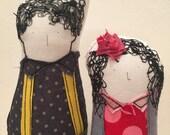 Reserved for  Elkie- Custom Family Portrait , Soft sculpture dolls -Timo handmade