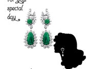 JEWELRY display cards for Mother's day or birthdays earrings, pendants, can be personalized 527,  Instant download