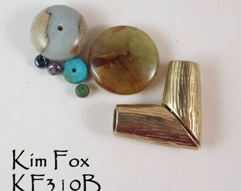 V Magnetic Clasp in Golden Bronze suitable for necklaces designed by Kim Fox