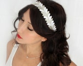 SALE Holiday Headband, gold & silver, flower Crown, Christmas, Winter Headpiece, Holiday accessory, holiday floral crown, christmas Wedding,