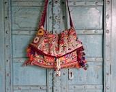 Vintage Indian Banjara Tribal Fabric Tote Bag Ethnic Kutchi mirrors handmade charm