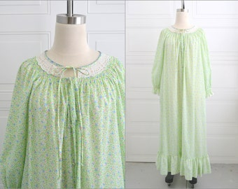 1960s Mini Floral Print Nightgown