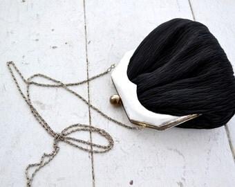 1980s La Royale Black Evening Bag