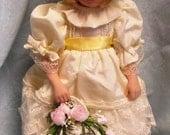 "Danbury Mint 12"" Porcelain Princess Diana's Flower Girl Doll Clementine Original Box with Paperwork"