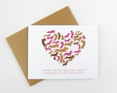 Dachshund Heart: Pet Sympathy Card