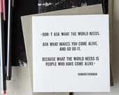 SALE Letterpress Gift Card / Card / Quote / Thurman / Letterpress Cards / Letterpress Stationery / Letterpress Stationery / Greeting Card