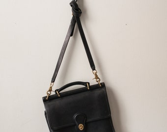 Black leather Willis Coach Crossbody bag