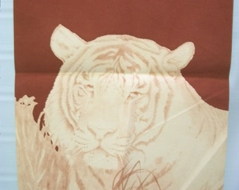 Craft Supplies, Tri Chem Painting Canvas, Red Velvet Tiger Canvas, Red Velvet Tiger To Paint, Painting Crafts, 70s craft canvas