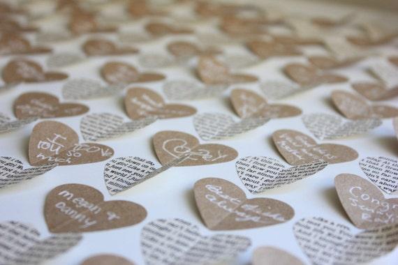 Guest book alternative / Rustic Wedding guestbook / Wedding guest book / Framed Wedding Hearts / Personalized Couple