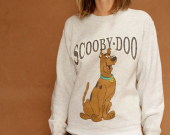 vintage scooby doo CLUB kid raver 90s kitsch heather grey sweatshirt
