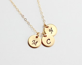 Gold Initial Necklace, Letter Necklace, Personalized Initial Charm, Monogram Jewelry