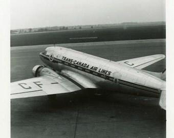"Vintage Photo ""Headed to British Columbia"" Plane Airplane Snapshot Old Photo Black & White Photograph Found Paper Ephemera Vernacular - 146"