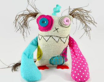 Purple Monster - Tooth Fairy Toy - Gift for Him - Halloween Decoration - Personalized Gift