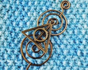 Wizard Shawl Pin in Vintage Bronze