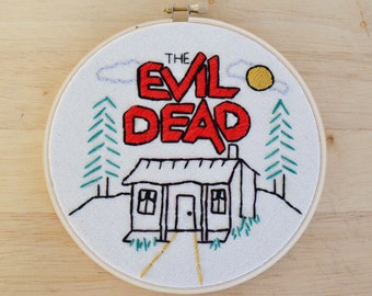 The Evil Dead Embroidered Wall Hanging Hoop