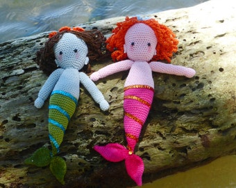 Mermaid amigurumi Doll Crochet Pattern PDF - Instant  Download